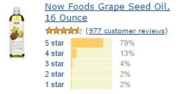 Reviews- Grape seed Oil Amazon