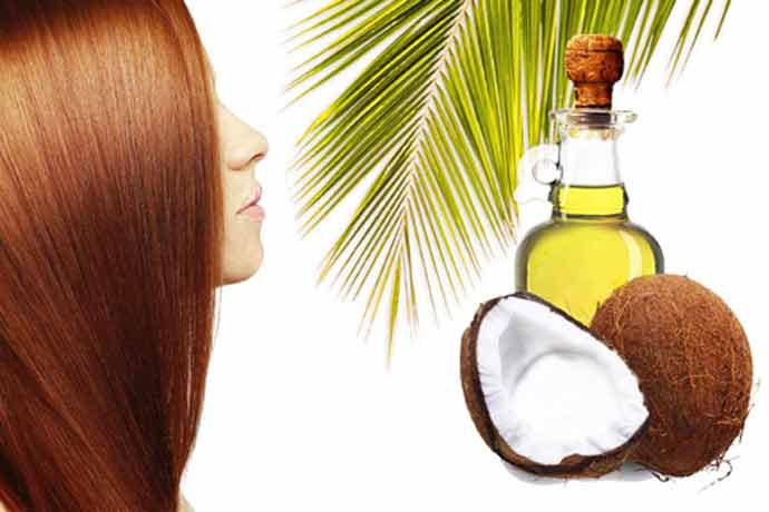 coconut oil for bleached hair before over after